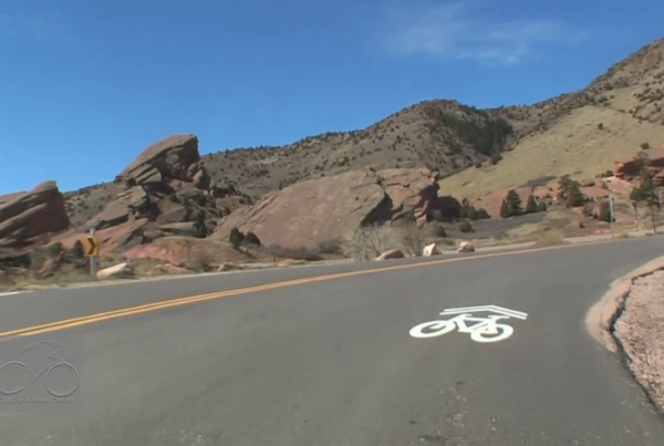 Virtual bike ride Red Rocks Colorado