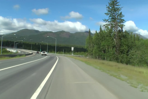 on demand workout a visual virtual ride from Anchorage Alaska to Eagle River