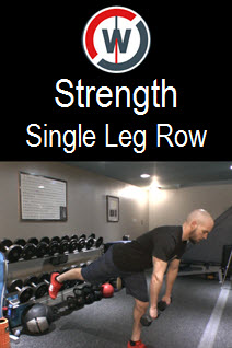 Strength  and Balance – Single Leg Dead Lift with Row