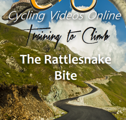 When watching the Tour de France or Tour of California climbing stages, I empathize with the poor bastards who crack and fall away from the main pack. Elite climbers combine strength, psychological discipline and aerobic godliness to artistic levels. I am awed by their stamina and grace!  This video trains these attributes to help you improve your ascents. With grades up to 14% you'll be maintaining a heart rate in the mid 90's for the entirety of this difficult climb. By the end of this workout, your legs will be toast and you'll be pedaling squares!