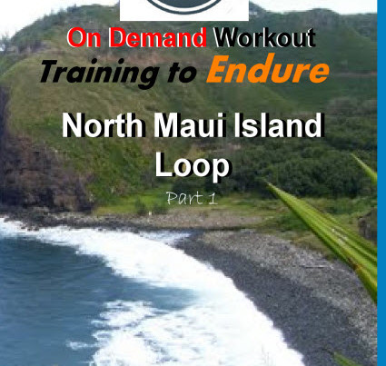 This groundbreaking workout video has been updated to the on demand dash 4.0! Enjoy a 2 hour 09 minute beautiful ride along the west coast of Maui. This is a tough, fast paced ride with very few rests. The workout is tough, but, the ride is motivational with never ending views of the Pacific Ocean, volcanic peaks, palm trees, sugar cane fields and the unique quaint Hawaiian culture that you can only experience from a bike!